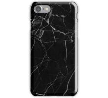 Marble - Black iPhone Case/Skin