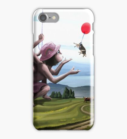 landscape with cows iPhone Case/Skin