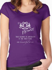 the flower that blooms in adversity  Women's Fitted Scoop T-Shirt