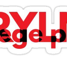 MRYLND college park (red) Sticker