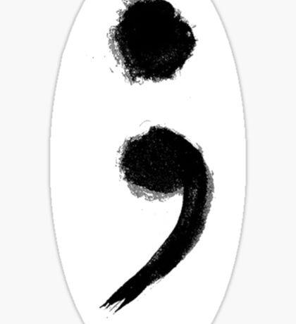 Semicolon  Sticker