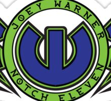 "Joey Warner ""Notch 11"" [Green and Blue] Sticker"