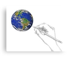 Drawing the World Canvas Print