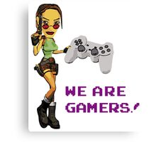 Inspired by Lara Croft of Tomb Raider Canvas Print