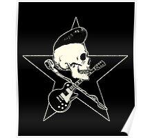 Rock-n-Roll Skull Poster