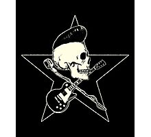 Rock-n-Roll Skull Photographic Print