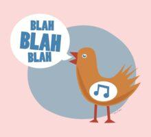 blah blah blah bird Kids Tee