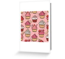 Cupcake Pattern Greeting Card
