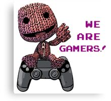 Inspired by Sackboy of Little Big Planet Canvas Print