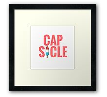 Cap-Sicle: Captain America Framed Print
