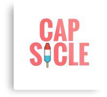 Cap-Sicle: Captain America Metal Print
