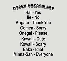 Otaku Vocabulary Anime Manga Shirt Unisex T-Shirt