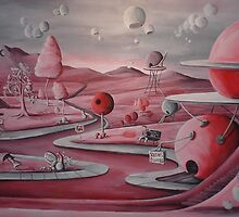 Pink~Whimsical~Candy Land~Painting~LOVE by shinerdog