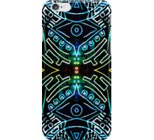 symmetry line pattern blue iPhone Case/Skin