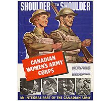 Vintage poster - Canadian Women's Army Corps Photographic Print