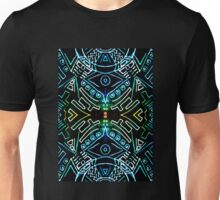 symmetry line pattern blue Unisex T-Shirt