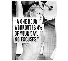 Four Percent Of Your Day (Women's Workout Motivation) Poster