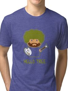 Bob ross happy tree t shirt Tri-blend T-Shirt