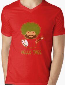 Bob ross happy tree t shirt Mens V-Neck T-Shirt