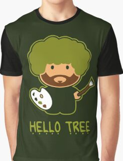 Bob ross happy tree t shirt Graphic T-Shirt
