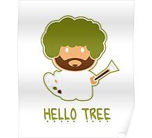 Bob ross happy tree t shirt Poster