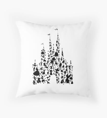 Character Castle Silhouette  Throw Pillow