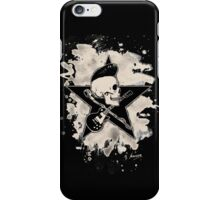 Rock-n-Roll Skull - bleached iPhone Case/Skin