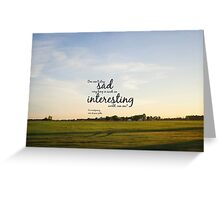 Anne Shirley World Greeting Card