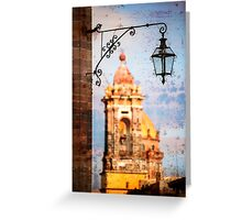 Lamp and Tower - San Miguel de Allende, Mexico Greeting Card