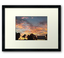 Sunset at the Drive-Ins Framed Print