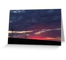 Sunset pylon Greeting Card