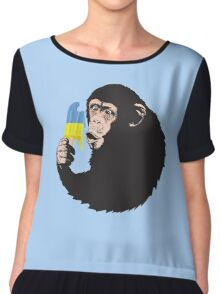 Oooooz Chimp Chiffon Top