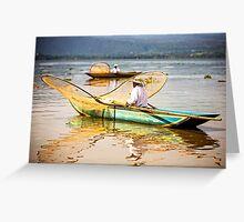 Butterfly Net Fishermen - Janitzio, Mexico Greeting Card