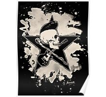 Rock-n-Roll Skull - bleached Poster
