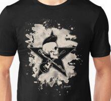 Rock-n-Roll Skull - bleached Unisex T-Shirt