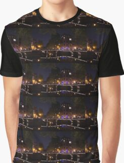 Magical, Sparkling Amsterdam Canals and Bridges at Night Graphic T-Shirt