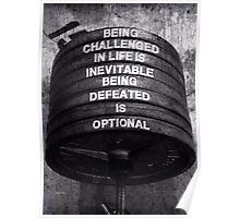 Being Defeated Is Optional Poster
