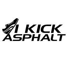 I kick asphalt Photographic Print
