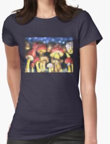 A Night by Mushroom's Light Womens Fitted T-Shirt