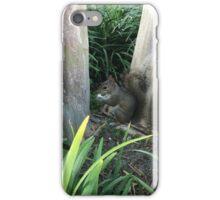 Squirrel enjoying a popcorn kernel iPhone Case/Skin