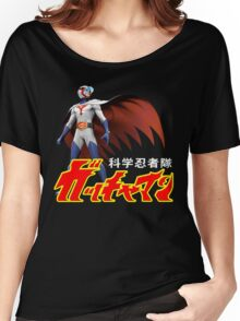 TATSUNOKO JAPAN CLASSIC RETRO CARTOON ANIME SERIES GATCHAMAN G-FORCE BATTLE OF THE PLANETS SCIENCE NINJA TEAM  Women's Relaxed Fit T-Shirt