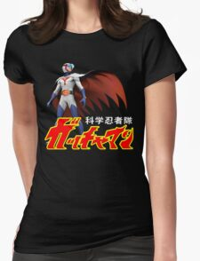 TATSUNOKO JAPAN CLASSIC RETRO CARTOON ANIME SERIES GATCHAMAN G-FORCE BATTLE OF THE PLANETS SCIENCE NINJA TEAM  Womens Fitted T-Shirt