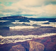 Waves On Lake Superior by Phil Perkins