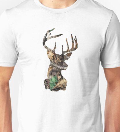 Camo Deer Head Unisex T-Shirt