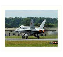 Swiss F18 Hornet Art Print