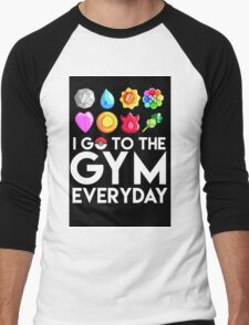 Pokemon - I GO TO THE GYM EVERY DAY Men's Baseball ¾ T-Shirt