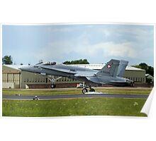 Swiss F18 Hornet Poster