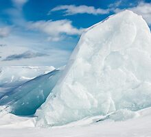 Ice and Blue Skies by April Koehler