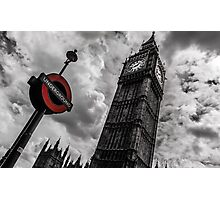 Big Ben vs Underground Photographic Print