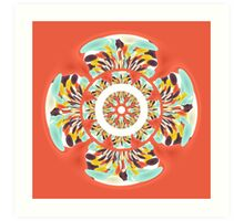 Colorful mandala Art Print